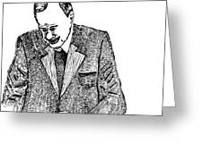 Crying Man Greeting Card by Karl Addison