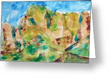 Crystal Catalina Greeting Card by Mordecai Colodner