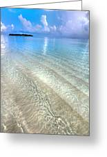 Crystal Water Of The Ocean Greeting Card by Jenny Rainbow