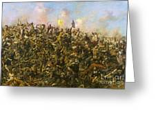 Custer's Last Stand Greeting Card by Pg Reproductions