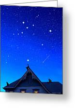 Cygnus The Swan And The Summer Triangle Greeting Card by Kathleen Horner