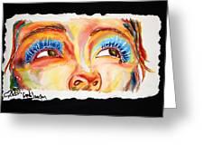 Cyn's Tear Greeting Card by Joseph Lawrence Vasile