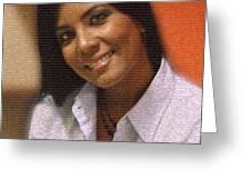Cynthia Salazar Greeting Card by Enriquillo Amiama