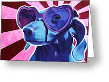 Dachshund - Puppy Love Greeting Card by Alicia VanNoy Call