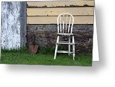 Dads High Chair Greeting Card by Lauri Novak
