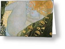 Danae Greeting Card by Gustav Klimt
