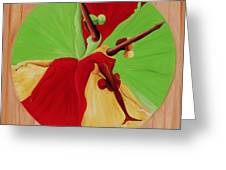 Dance Circle Greeting Card by Ikahl Beckford