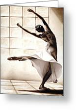Dance Finesse Greeting Card by Richard Young