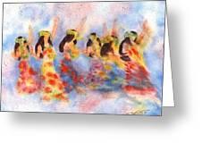 Dance Of Paradise Greeting Card by John YATO