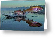Dance Of The Trout Greeting Card by Brian Pelkey