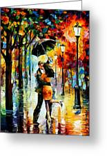Dance Under The Rain Greeting Card by Leonid Afremov