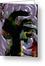 Dancer Greeting Card by Ron Bissett