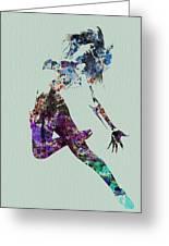 Dancer Watercolor Greeting Card by Naxart Studio