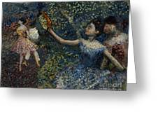 Dancer With A Tambourine Greeting Card by Edgar Degas