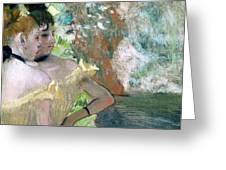 Dancers in the Wings  Greeting Card by Edgar Degas