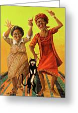 Dancin' Cause It's Tuesday Greeting Card by Shelly Wilkerson