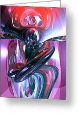 Dancing Hallucination Abstract Greeting Card by Alexander Butler