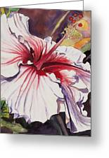 Dancing Hibiscus Greeting Card by Marionette Taboniar