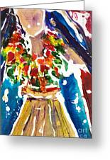 Dancing Hula Greeting Card by Julie Kerns Schaper - Printscapes