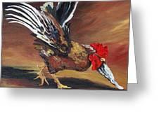 Dancing Rooster  Greeting Card by Torrie Smiley