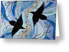 Dancing With the Chinook Greeting Card by Linda Beach