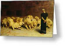 Daniel In The Lions Den Greeting Card by Briton Riviere