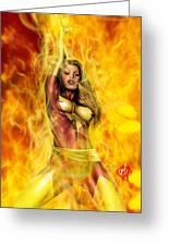 Dark Phoenix Greeting Card by Pete Tapang