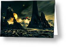 Dark Planet Greeting Card by Bob Orsillo