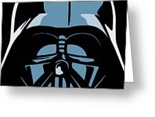 Darth Vader Greeting Card by IKONOGRAPHI Art and Design