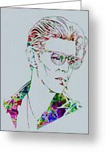 David Bowie Greeting Card by Naxart Studio