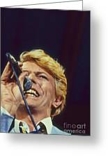 David Bowie Smiling Eye Greeting Card by Philippe Taka