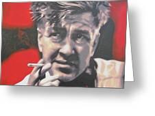 David Lynch Greeting Card by Luis Ludzska