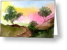 Dawn Greeting Card by Anil Nene