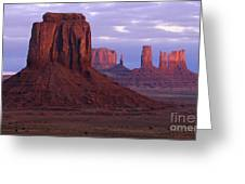 Dawn At Monument Valley Greeting Card by Sandra Bronstein