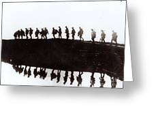 Dawn March Greeting Card by Private Collection