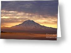 Dawn Mist About Mount Rainier Greeting Card by Sean Griffin