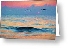 Dawn Patrol Greeting Card by JC Findley