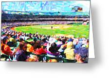 Day Game At The Old Ballpark Greeting Card by Wingsdomain Art and Photography