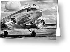 Dc-3 Dakota Greeting Card by Ian Merton