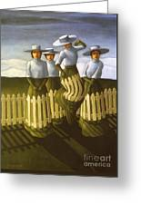 De-fence Mechanism Greeting Card by Jane Whiting Chrzanoska