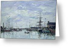 Deauville The Dock Greeting Card by Eugene Louis Boudin