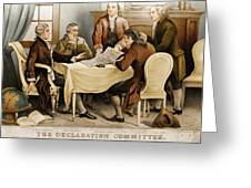 Declaration Committee 1776 Greeting Card by Photo Researchers