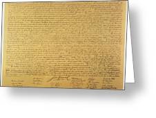 Declaration of Independence Greeting Card by American School