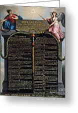 Declaration Of The Rights Of Man And Citizen Greeting Card by French School