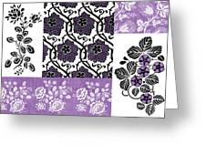 Deco Flower Patchwork 3 Greeting Card by JQ Licensing