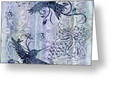 Deco Hummingbird Blue Greeting Card by JQ Licensing
