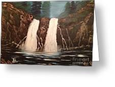 Deep Woods Waterfall Greeting Card by Tim Blankenship