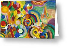 Delaunay: Hommage Bleriot Greeting Card by Granger