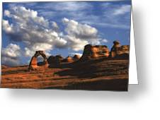 Delicate Arch In Arches National Park Greeting Card by Utah Images