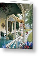 Delicate Balance Greeting Card by Greg Olsen